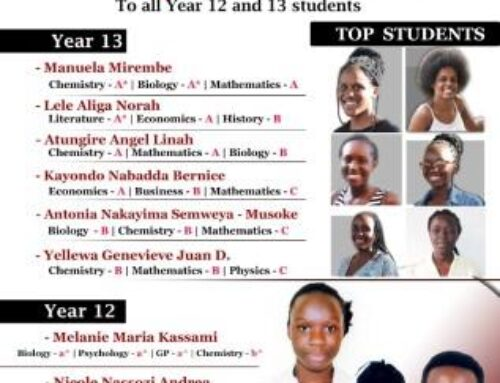 Year 12 and 13 Top Candidates.